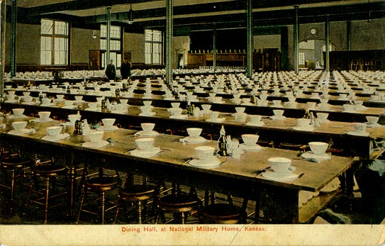 Penny Postcard of Building 19 Dining Hall